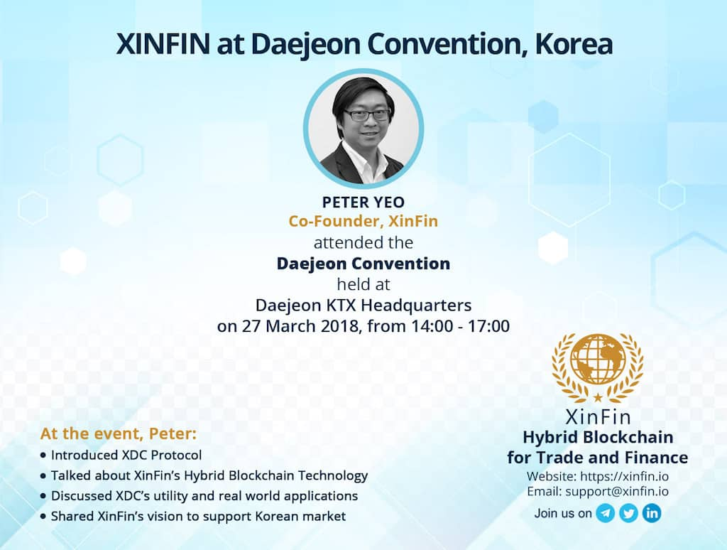 XINFIN Daejeon Convention
