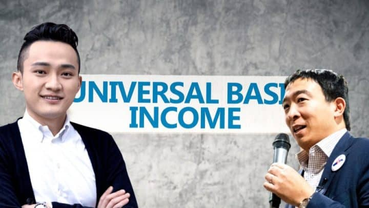 universal basic income justin sun andreew yang