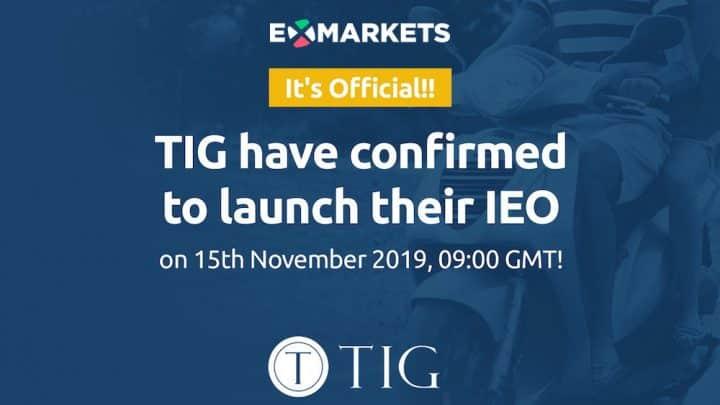 TIG IEO tokens Exmarkets