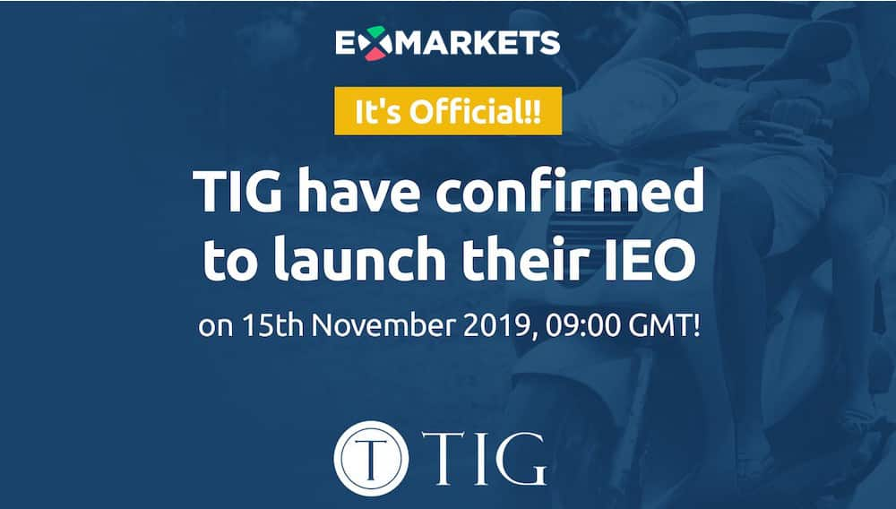 TIG IEO tokens Exmarkets