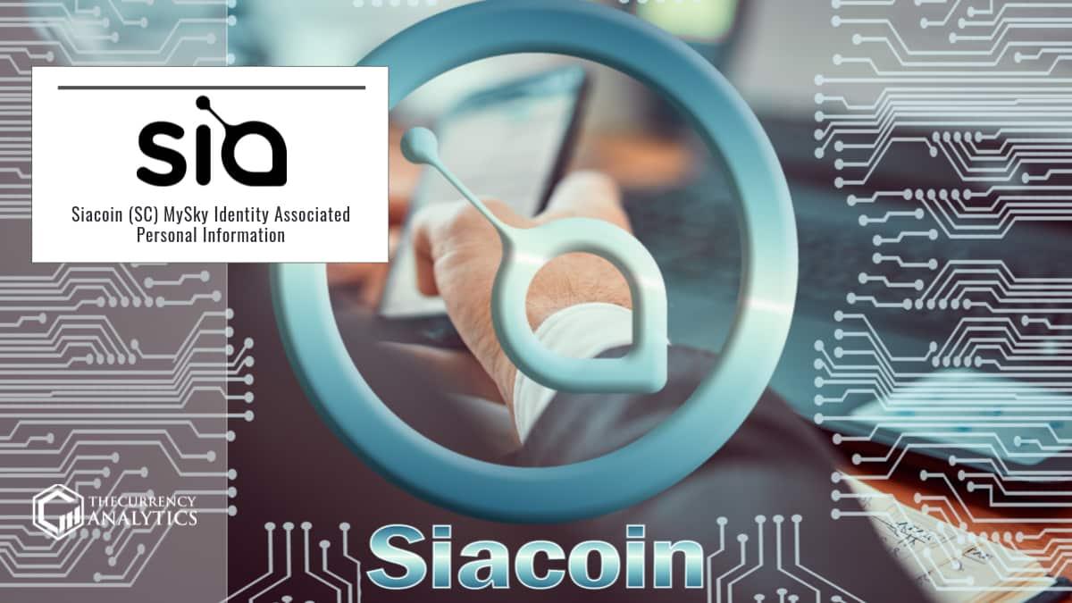 Siacoin (SC) MySky Identity Associated Personal Information