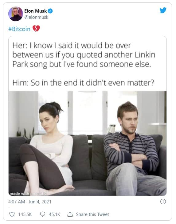Musk BTC Tweet